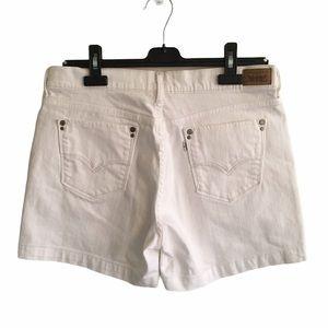LEVI'S Blue Tab Vintage White Denim Shorts 32